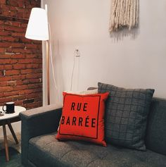 We make Montreal's biggest obstacle to happiness, construction, a soft, cuddly and positive experience. Throw Pillows, Bed, Interior, Instagram Posts, House, Cushions, Decorative Pillows, Design Interiors, Haus