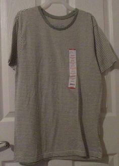 Men's Fission Shortsleeve Striped Jersey Crew Tee Shirt,Size Medium, NWT's #Fission #BasicTee