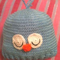 Sleepy chick crochet hat