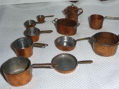 Vintage Artisan WKC Dollhouse Miniature Set of Pots & Pans #WKC