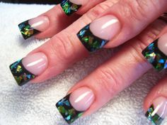 I dont like the shape, but like the idea of paua shell nails, maybe for a feature nail.