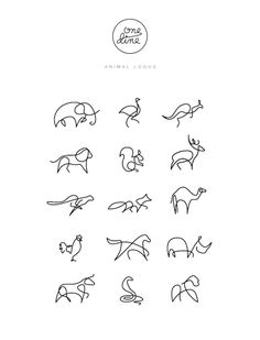 Animals drawn with a Single Line