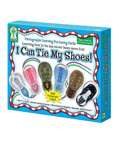 Look at this #zulilyfind! I Can Tie My Shoes Game by Carson Dellosa #zulilyfinds