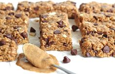 Just 5 ingredients and about 5 minutes is all it takes to make these chewy, crunchy, oh so tasty granola bars and you can make them with peanut butter or almond butter. No baking required!