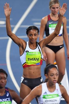 Thiam Nafissatou of Belgium pictured during Athletics Women's Heptathlon at… Heptathlon, Rio 2016 Pictures, Sports Track, 800m, Track And Field, Athletic Women, Female Athletes, Athletics, Belgium