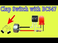 Clap Switch Circuit using Transistor Electronics Mini Projects, Simple Electronics, Electronics Basics, Electrical Engineering Books, Electrical Projects, Electronic Engineering, Simple Electronic Circuits, Electronic Circuit Design, Diy Heater