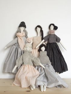 the maidens | 5 handmade dolls by alessandra taccia
