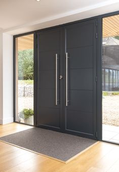 Origin Bi-fold doors and windows Modern Entrance Door, Main Entrance Door Design, Door Gate Design, Door Design Interior, Modern Front Door, Front Door Design, House Entrance, Modern Exterior Doors, House Main Door