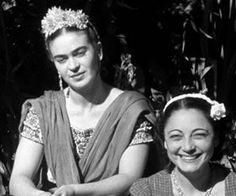 #Frida #Kahlo & ver sister Cristina.