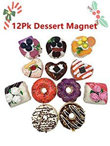 Amazon.com: QSHOP Dessert Fridge Magnet Decor 3D Home Decoration Children's Early Education Cupcake with Cake Smell Soft Touch Magnet (Pack 12): Toys & Games
