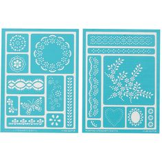 PLAID-Martha Stewart Crafts: Adhesive Stencils. Adhesive stencils are ideal for adding painted designs to any project; especially on curved or slick surfaces. Repositionable and reusable. This package contains one 7-3/4x5-3/4 inch sheet.  Imported.