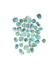 May Birthstone  Birthstone Art  Emerald  Gem Art  Gemstone