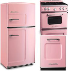 Big Chill Appliances in 6 Classic Spring Shades - Pale pink is a soft and romantic color, adding a sweet and feminine touch to any room it graces
