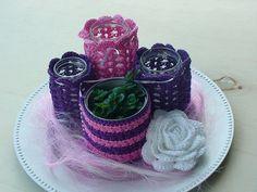 Ravelry: Mideni's Crocheted mason jar covers