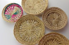 Lot de paniers en bambou - Lot of bamboo baskets by Lesflibustieres on Etsy