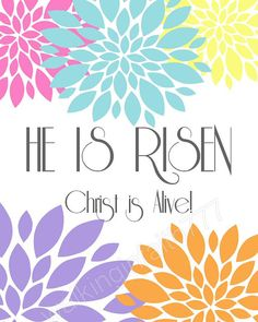 Easter Printable He Is Risen Christ Is Alive