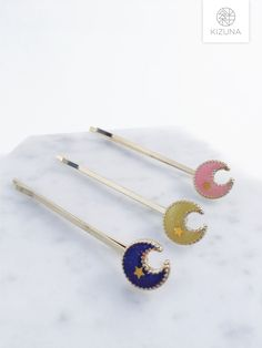 Stars And Moon, Hair Pins, Arrow Necklace, Hair Accessories, Stone, Silver, Gold, Gifts, Etsy