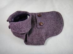Dog tweed coat with fleece lining for small by CorgiKuriandFriends