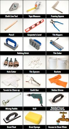 SAVE THIS SHOPPING LIST for future tile DIY projects: Tools you need before you start tiling