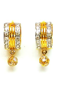 New Gold Earrings/Drops Handmade Different Design 22k(916 Pure) Bis Hallmark Cz  Just Have A Look  www.stores.ebay.in/shreejewel