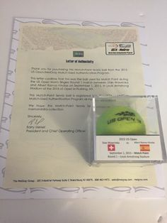 Stan Wawrinka 2015 US Open MATCH POINT Used Tennis Ball – MEIGRAY LOA  Price : 79.00  Buy it now price :  Current bids :  Ends on : 2 weeks  Shop now  - #Tennis https://lastreviews.net/sports-fitness/tennis/stan-wawrinka-2015-us-open-match-point-used-tennis-ball-meigray-loa/