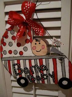 University of Alabama/Bama Baby Burlap Door Hanging/ Door Decoration. $32.00, via Etsy.