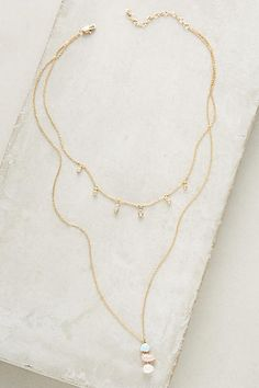 Anthropologie Layered Triplet Necklace