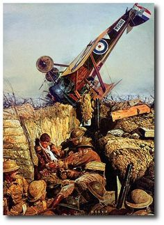 AVIATION ART HANGAR - Mud In Your Eye by James Dietz (Sopwith Camel)