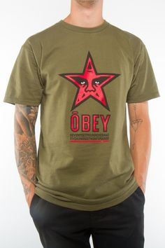 OBEY Star Basic T-Shirt, T-Shirts - Obey Clothing UK Store - Obey Mens Clothing, Obey Womens Clothing, Obey T shirts and all things Shepard Fairey , Obey Propaganda and Obey Giant. Clothing Websites, Fashion Images, Summer Outfits, Street Wear, Street Style, Mens Fashion, Clothes For Women, Cloths, Mens Tops
