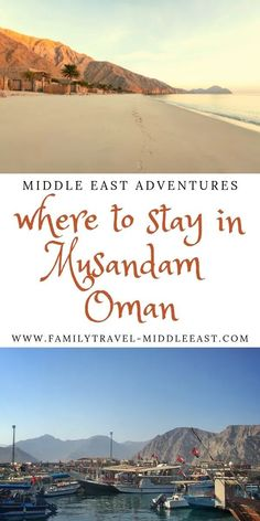 Looking to visit Musandam in Oman but unsure on where to stay? We look at accommodation choices both in Khasab and on the east coast Dibba, as well as camping and dhow boat options overnight for a unique Oman experience on the water - The Norway of Arabia Road Trip Planner, Travel Planner, Oman Hotels, Diving Lessons, Strait Of Hormuz, Parasailing, Family Adventure, Beautiful Places To Visit, Beach Resorts