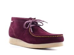 Clarks Stinson Hi Wallabee Style Men's Suede Casual Shoes 67903 Burgundy in Clothing, Shoes & Accessories | eBay