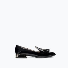 Image 1 of PATENT SLIP-ON SHOES from Zara