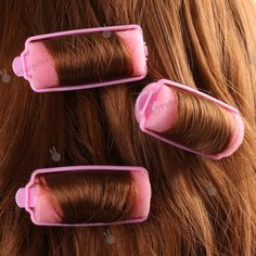 ✿ Pink Sponge Rollers ✿ Blast from the past!! I wonder where I could get some of these?....lol