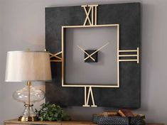 Gold Walls, Metal Walls, Metal Wall Art, Living Room End Tables, Living Room Decor, Side Table Decor, Table Decorations, Wall Clock Design, Clock Wall
