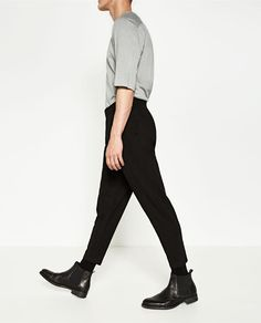 DARK CROPPED TROUSERS from Zara