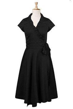 eShakti - Shop Women's designer fashion dresses, tops | Size 0-36W & Custom clothes -- very figure flattering yet modest. :)
