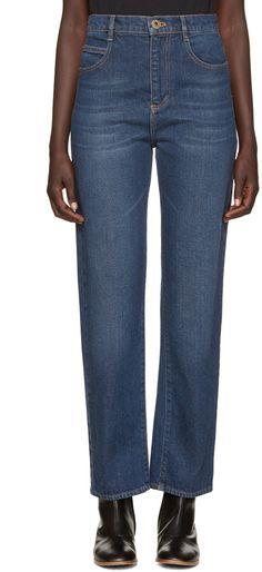 Chloé - Blue Straight-Leg Jeans