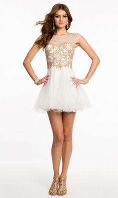 Organza A-line High Neck Short Formal Dresses FSAU1409P800255 - formalsydney.com