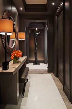 """Interior Tenacious attention to detail, combined with luxurious custom fittings and a refined palate, lifts a """"sky pad"""" with high-end builder standard finishes to new heights of style and refinement. #interior"""