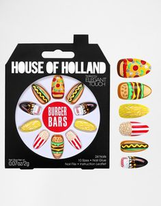 Pin for Later: 11 Calorie-Free Ways to Celebrate National Burger Day The False Nails House Of Holland Burger Bars nails By Elegant Touch (£9)