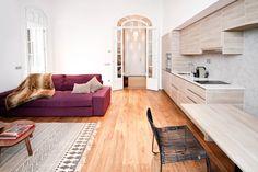 Un apartamento turístico con encanto en el centro - Decorabien.com #salón #decoración #interiorismo #diseño #reforma ideas para el #salón #cocina #integrado