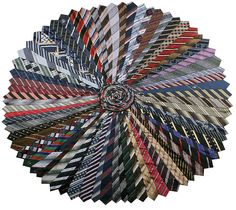 this rug would put all my thrift store ties to good use, wouldn't it?