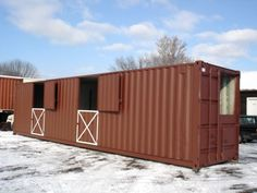 shipping container barn   storage container horse barns - Google Search