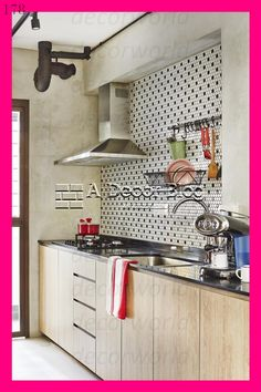 Prodigious Useful Tips: Blue Backsplash Brown Cabinets easy backsplash apartment therapy. Interior Ikea, Kitchen Interior, Kitchen Decor, Interior Design, Kitchen Ideas, Funky Kitchen, Space Kitchen, Ikea Kitchen, Beadboard Backsplash