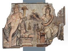 A grand mosaic of Isis and Serapis, Roman early 3rd century