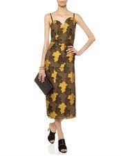 Gold Jacquard Backless Sofia Dress Rejina Pyo 2