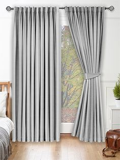 Dupioni Faux Silk Platinum Curtains - This is a sensational curtain that oozes chic sophistication, from the silver platinum colour to the beautiful faux silk finish with discrete lustre and natural slubs. #curtains #fauxsilk