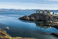 Typical apartment house in Greenland. All towns are located at the coast, so sea-view is almost standard.. photo by Camilla Hylleberg