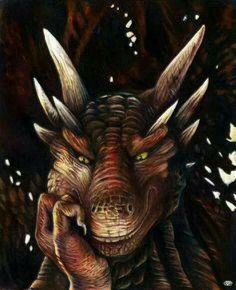 """The dragon laughed, a deep gravelly tone that was both warm and frightening. """"Humans are such delightful little hypocrites."""" (This is Drago from the movie """"Dragon Heart"""" if you haven't seen it you're missing out. Magical Creatures, Fantasy Creatures, Dragon Medieval, Foto Picture, Dragon Heart, Dragon Face, Beautiful Dragon, Dragon Artwork, Dragon Pictures"""