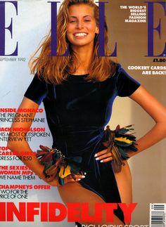Niki Taylor , Elle UK september 1992 by Marco Glaviano Niki wearing Rifat Ozbek FW 1992 Fashion Magazine Cover, Fashion Cover, Magazine Cover Design, Magazine Covers, Niki Taylor, Pregnant Princess, Fashion Idol, Fashion Models, Elle Us